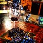 Wine and grape tasting.