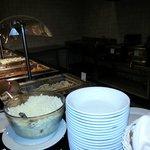 Y la estacion de pastas ohhh rico...al final te esperaba un gran bol con queso BLANCO rayado...