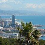 Vista de Barcelona, do Castelo de Montjuic
