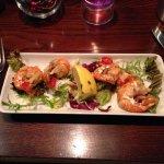 King prawns with chilli and garlic