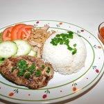 Broiled BBQ & Shredded pork w/ rice