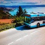 Vista da Contovello, in attesa che il tram riprenda la sua corsa (calendario 2011 TriesteTraspor