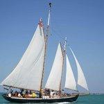 Schooner Hindu under sail in Key West Harbor