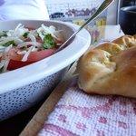 empanada's and peverey salsa