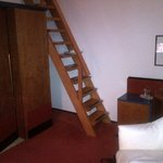 Ladder leading to the bed