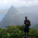 View at the top of Petit Piton