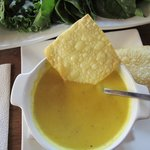 Yummy giant squash soup
