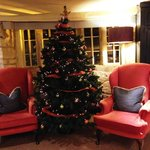 Christmas decor at The Manor House Hotel