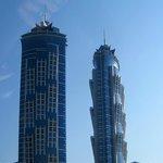 as torres gêmeas do hotel - 72 andares!