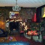 Christmas time around the log fire