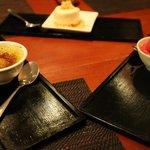 Pandan Leaf and Sticky Rice Crème Brulé, Honeycomb Icecream