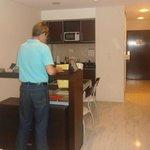 visão parcial do apartamento