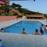 Guest enjoying pool