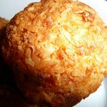 about 6 x the size of a coconut macaroon