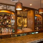 Picture of the Inferno granite bar with Laurel branches