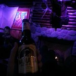 """Enjoying a nice Banana Bread beer in """"The Cabin"""""""