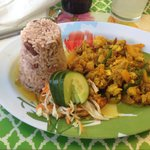Curried Lobster with Rice and Peas