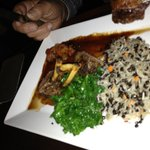 Turkish lamb with steamed kale and pilaf