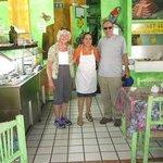 Salad Bar on Left (Wife too)