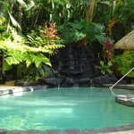 The secluded pool area