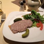 Pate and cider