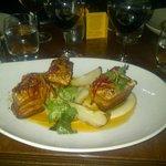 Pork belly at Rueben's in Franschoek, South Africa
