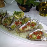 Marinated oysters