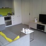 Kitchenette and living area