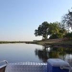 Boat trip on Linyanti