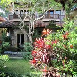 Lovely gardens and Balinese architeture