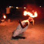 """The """"Fire Man"""" great entertainment."""