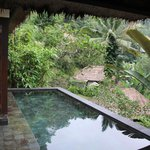 View of private pool outside my room