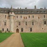 Vue de face du château