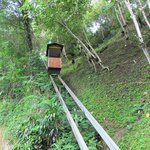 Funicular to lower levels of the property