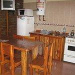 Cocina-comedor, cómoda y completa