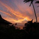 Sonnenuntergang vom Balkon aus