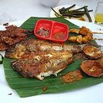 seafood plate - fish, prawn, clam, sotong ...