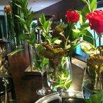 Flores en recepción.