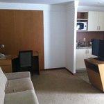 Sala e cozinha do apart