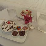 In-room dessert!