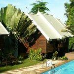 Vue extérieure des bungalows
