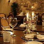 Gewelven Restaurant Schaloen klaar voor diner