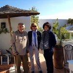 La visite avec Jacques sur la terrasse d'Alilia 1