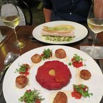 Scallops and tomato