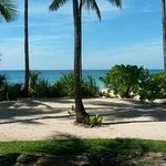 The view from our beach front bungalow.