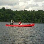 Canoeing near Beaver Dam in July 2013
