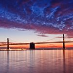 Bay Bridge Sun Rise