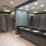 Brand-new restrooms