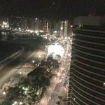 Vista noturna do Quality Fortaleza.