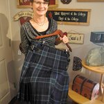 Our kiltmakers are always busy! Here's Jenni MacLean and her very first hand-sewn kilt